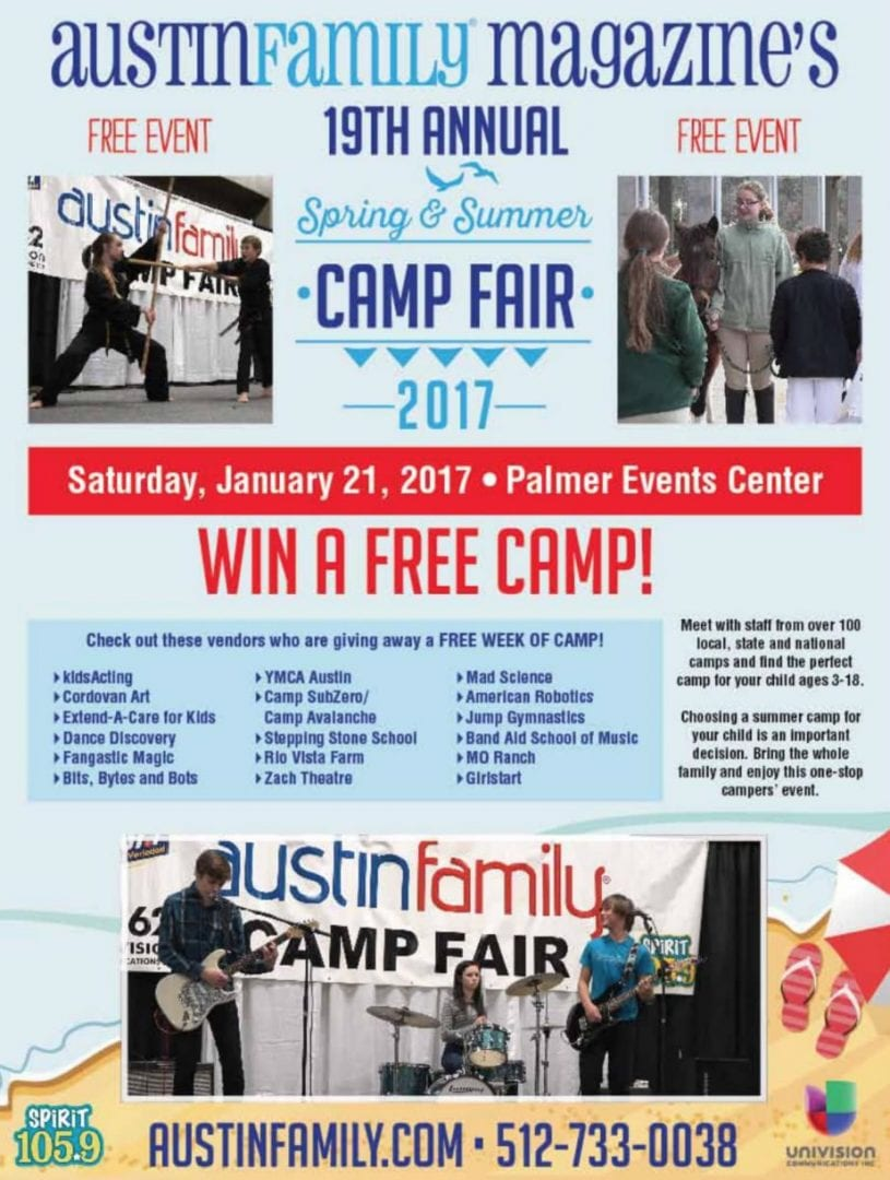Austin Family's 19th Annual Summer Camp Fair 2017