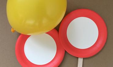 Paper Plate Balloon Tennis